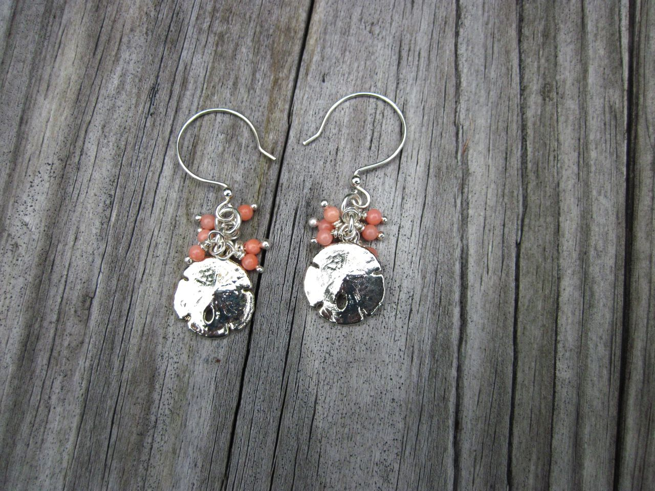 Sand dollar earrings in silver