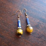 faceted tigereye earrings