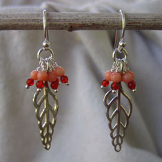 Coral Shell Earrings