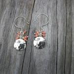 Sand dollar earrings in silver